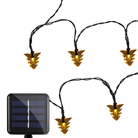 SS - 33 Solar Powered Waterproof 20 LEDs Xmas Tree String Lamp