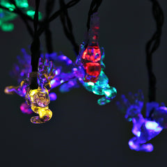 Solar Powered Waterproof 20 LEDs Fawn String Light