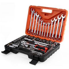 61pcs Socket Ratchet Wrench Automobile Repair Tools Kit