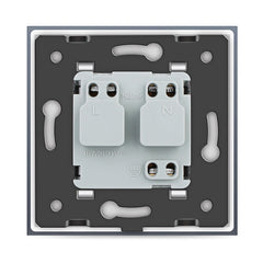 LIVOLO 16A Wall Power Socket with Glass Panel for EU Plug