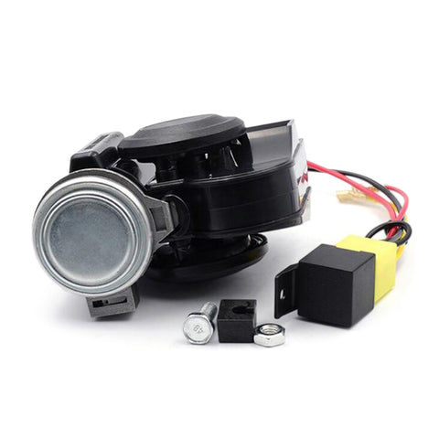 Motorcycle Electric Air Horn 125dB Powerful Sound Suitable for All 12V Vehicles