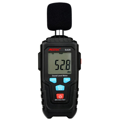 MESTEK SL620 High Precision Noise Tester Sound Level Meter Mini Household Digital Decibel Detector