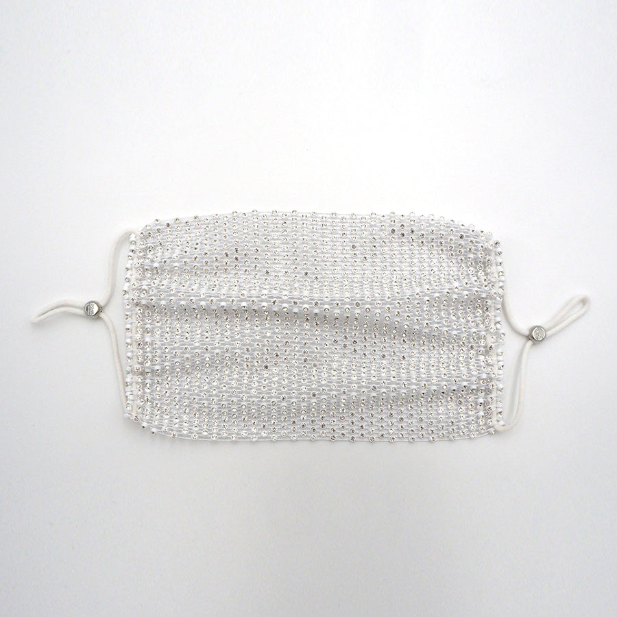 Crystal Face Mask Cover (White)