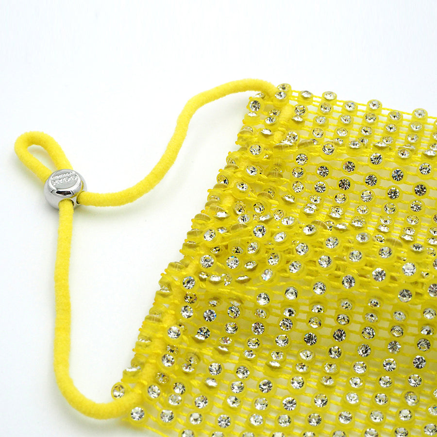 Crystal Face Mask Cover (Yellow)
