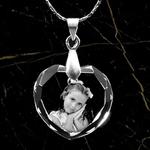 Load image into Gallery viewer, Personalized Heart Necklace Crystal