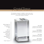 Load image into Gallery viewer, 3D Photo Premium Crystal Tower | Personalized Laser Engraving.