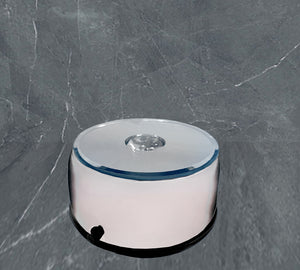 Small Round Light Base (Rotating) - Silver Finish