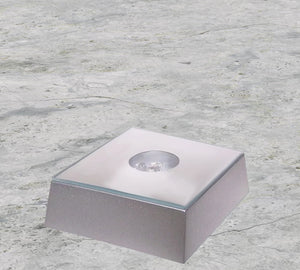 Square Light Base - Silver Finish