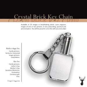 Personalized Crystal Rectangular Key-chain