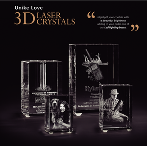 3D Photo Premium Crystal Tower | Personalized Laser Engraving.