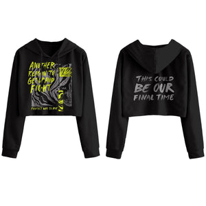 Perfect Way To Die Crop Hoodie - Black