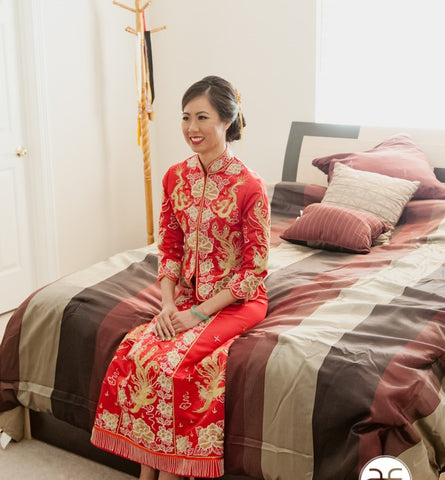 Kwa Qun Chinese Wedding Gown Qipao 龍鳳褂中式裙褂