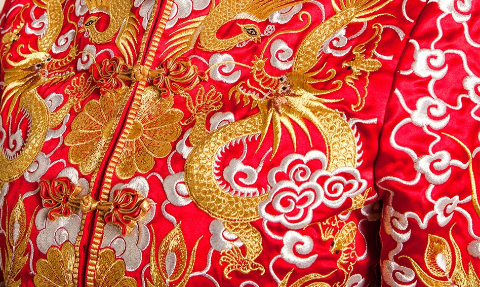 Traditional chinese wedding gown kua qun yannyexpress