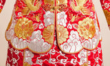 Kwa Qun Embroider Dragon & Phoenix Brocade Chinese Wedding Gown Qipao - YannyExpress  - 13