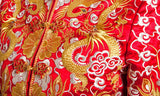 Kwa Qun Embroider Dragon & Phoenix Brocade Chinese Wedding Gown Qipao - YannyExpress  - 16