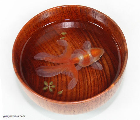 3D Goldfish Painting In Resin Water inspired by Riusuke Fukahori - YannyExpress  - 1