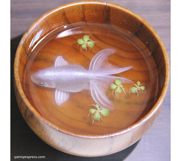 3d Silver Goldfish Artwork Resin Painting Inspired By