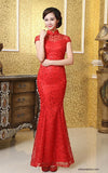 Chinese Wedding Gown Bridal Cheongsam Lace Mermaid Ball Qipao - YannyExpress  - 1
