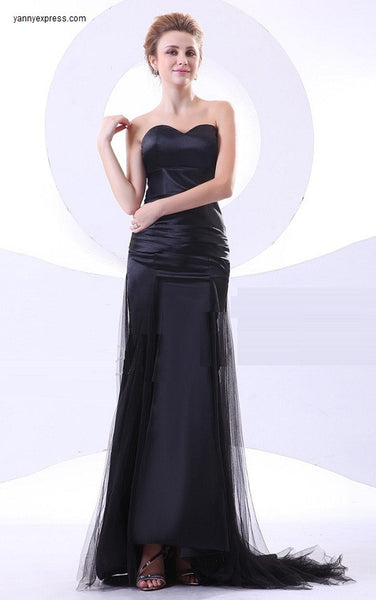 Tonal Strapless Gown with Twists Lace Formal Evening Prom Dress - YannyExpress  - 1