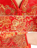 Chinese Wedding Dress Qipao Bridal Gown Dragon and Phoenix Banquet Hall - YannyExpress  - 6