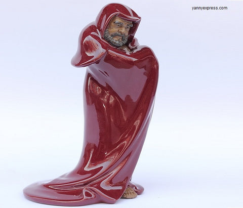 Ceramics Bodhidharma Sculpture - YannyExpress  - 1