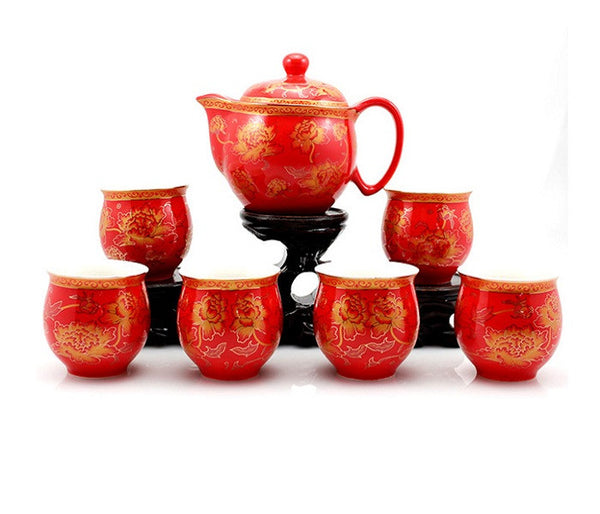 Chinese Wedding Tea Set for Tea Ceremony - YannyExpress  - 1