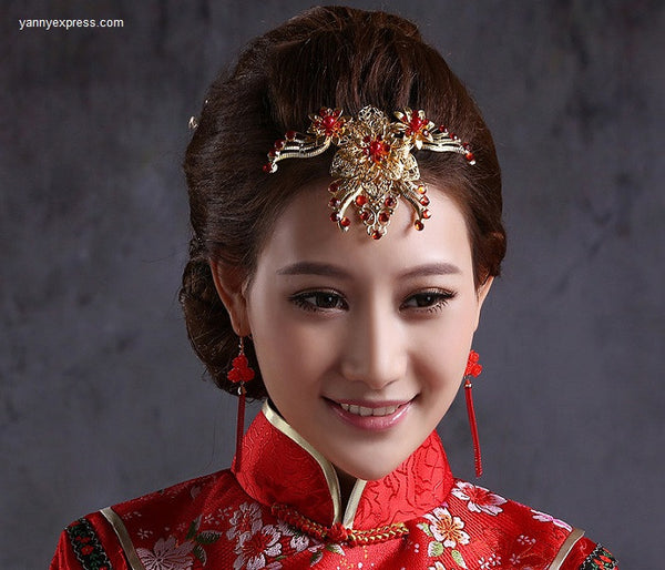 Chinese Wedding Hair Accessory Bridal Heirpain - YannyExpress  - 1