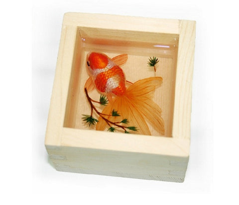 "3D Goldfish Painting In Resin Water inspired by Riusuke Fukahori ""秋津"" - YannyExpress  - 1"