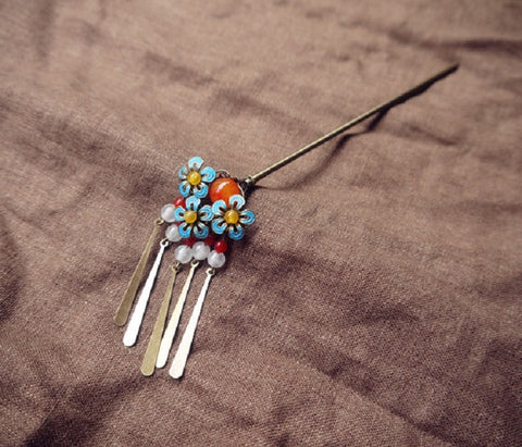 "Handmade Chinese Traditional Hairpins ""姚橘"" - YannyExpress  - 1"