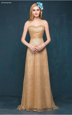 Beaded Evening Gown - YannyExpress  - 1