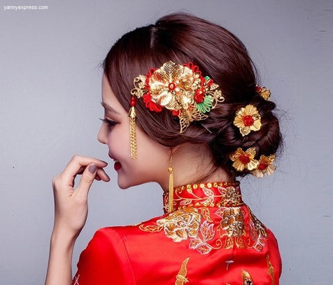 Chinese Bridal Hair Comb for Kwa Qun - YannyExpress  - 1