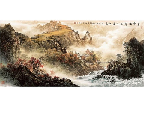 "Chinese Landscape Painting ""Autumn"" by Zeng Gang 曾刚 - YannyExpress"
