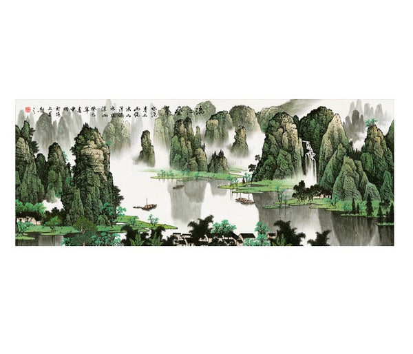 "Chinese Landscape Painting ""Guilin Scenery 桂林山水"" - YannyExpress"