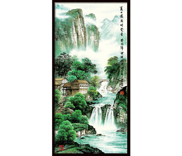 "Chinese Landscape Painting ""The Water Flows 水長流"" - YannyExpress"