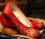 Chinese Red Wedding Shoes Classic - YannyExpress  - 1