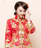 Chinese Wedding Embroider Traditional Qun Kwa Gold Silver Thread - YannyExpress  - 3