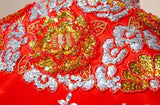 Chinese Wedding Gown Grand Embroidery Kwa Qun - YannyExpress  - 7