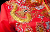 Chinese Wedding Gown Grand Embroidery Kwa Qun - YannyExpress  - 8
