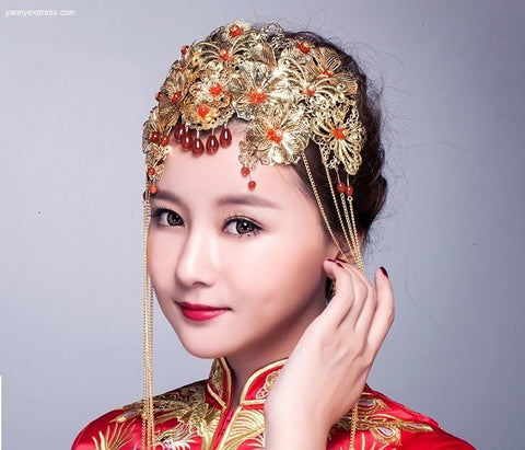 Chinese Wedding Hair Set for Kwa Qun - YannyExpress  - 1