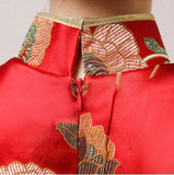 Chinese Wedding Qipao Gown Long Slits Bridal Traditional Cheongsam - YannyExpress  - 5