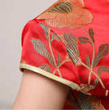 Chinese Wedding Qipao Gown Long Slits Bridal Traditional Cheongsam - YannyExpress  - 4