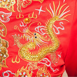 Chinese Wedding Qun Kwa Dragon & Phoenix Embroidery Gown - YannyExpress  - 7