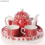 Chinese Wedding Tea Set Tea Ceremony - YannyExpress  - 2