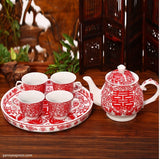 Chinese Wedding Tea Set Tea Ceremony - YannyExpress  - 3