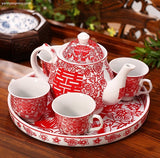 Chinese Wedding Tea Set Tea Ceremony - YannyExpress  - 4