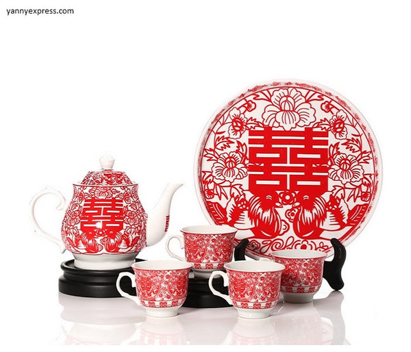 Chinese Wedding Tea Set Tea Ceremony - YannyExpress  - 1