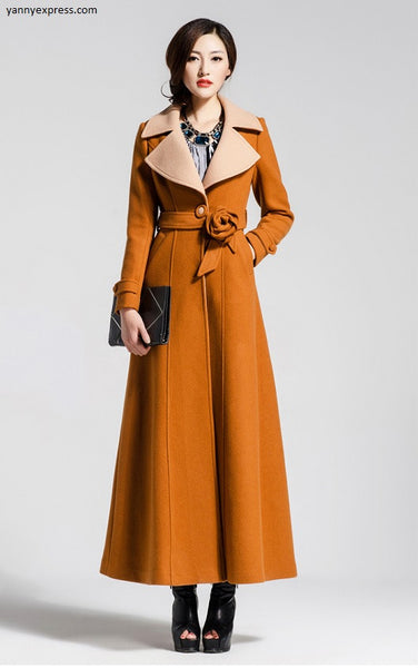 Couture Hollywood Long Wrap Coat - YannyExpress  - 1