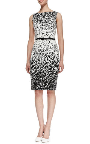 Black and White Sheath Dress - YannyExpress  - 1