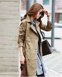 Double Breasted Trench Coat Detachable Liner - YannyExpress  - 5