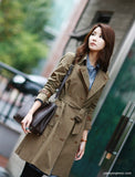 Double Breasted Trench Coat Detachable Liner - YannyExpress  - 7